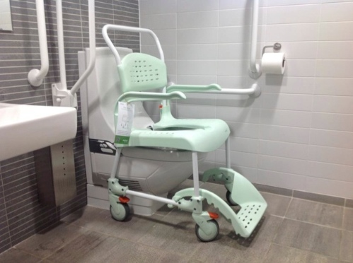 Geberit Aquaclean Care with Etac commode chair