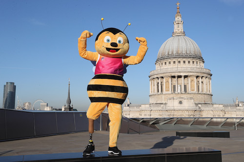 Whizbee the Bee, official mascot