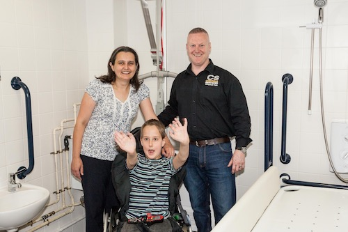 Wheelchair-accessible toilets at Cornwall Services