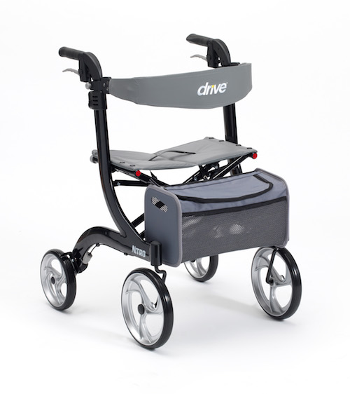 Nitro Rollator in black