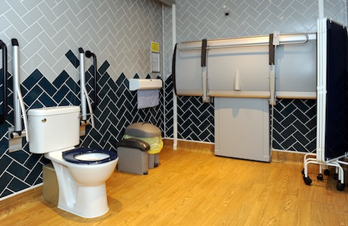 Fully accessible toilets at the Velvet Coaster