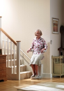 Stannah's Saddle seat stairlift