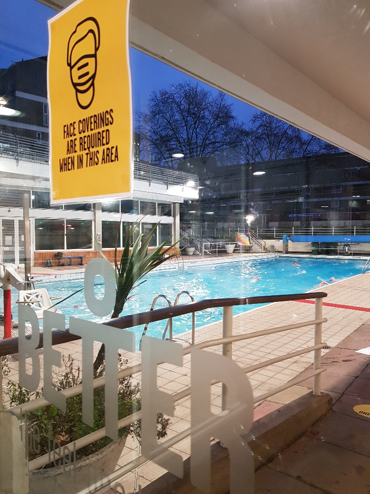 Leisure centre outdoor pool